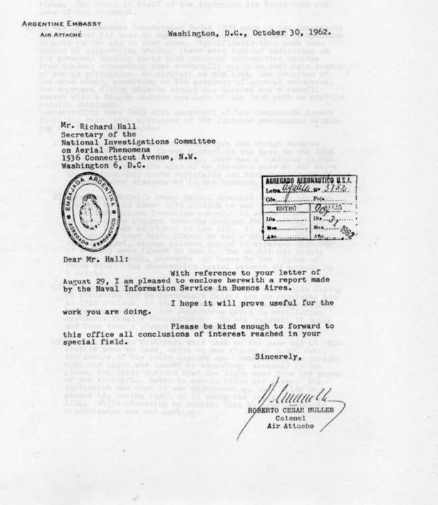 Correspondência para a CIA diz que acidente de OVNI em 1962 matou dois ETs
